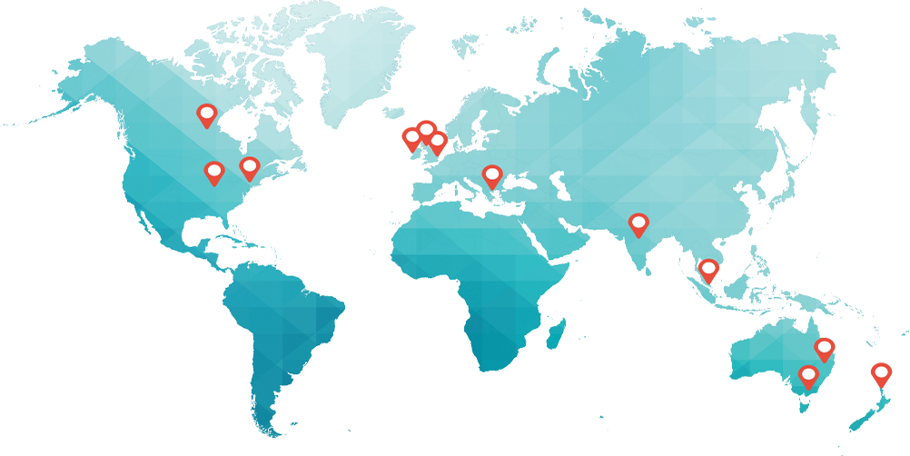 StayinFront offices-Worldwide presence