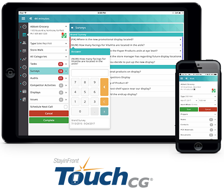 StayinFront TouchCG is a leading Mobile Sales Force Automation solution for Mobile Retail Execution and Direct Store Delivery